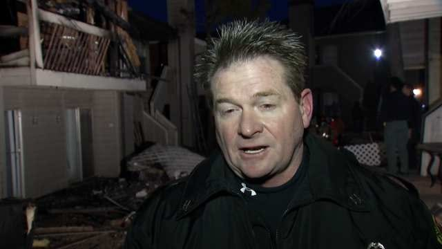 WEB EXTRA: Tulsa Fire Captain Stan May Talks About Observation Point Apartment Fire