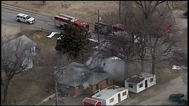 View Of Berryhill House Fire From Osage SkyNews 6