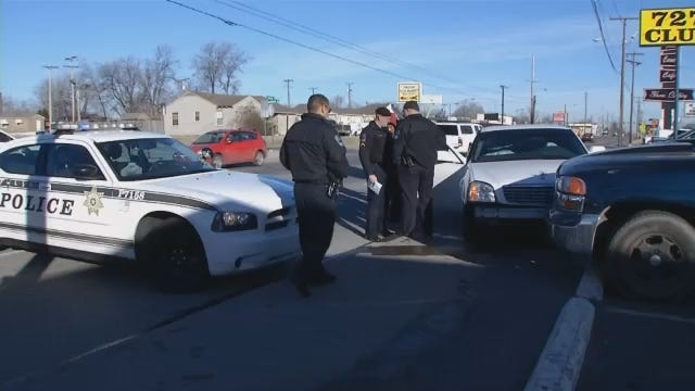 WEB EXTRA: Scene Video At End Of Tulsa Police Car Chase