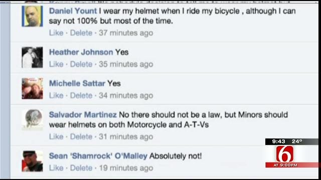 OK Talk: Should riders of all ages be required to wear helmets on motorcycles and ATVs?