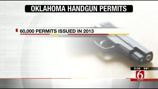 Oklahoma Handgun Permits Issued More Than Doubled In 2013