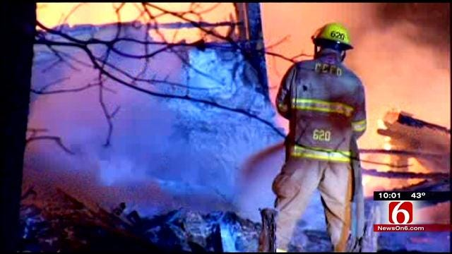 Grass Fires Spread Across Dry Green Country
