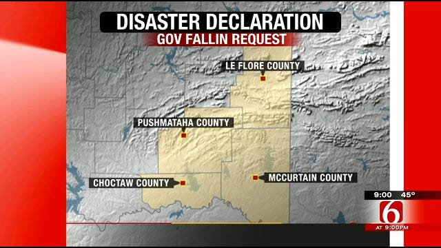 Fallin Requests Disaster Declaration For SE Oklahoma