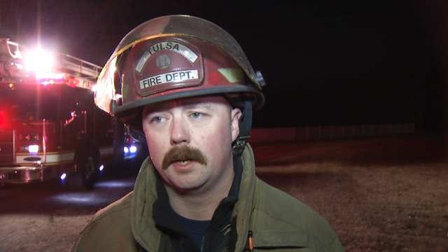 WEB EXTRA: Tulsa Fire Department Captain Chad Meyer Talks House Fire 34th Street North