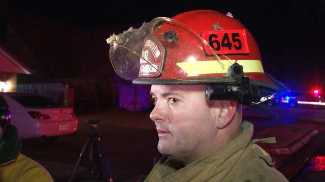 WEB EXTRA: Tulsa Fire Department Captain Jerry Sivavon Talks About House Fire on East 46st Street