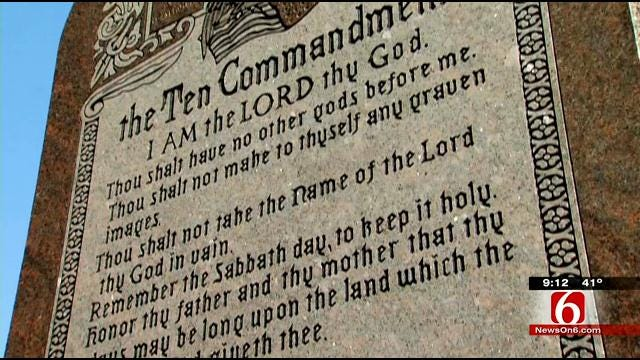 Second Lawsuit Filed Over Oklahoma City Ten Commandments Monument