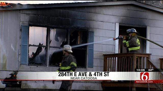 Woman Rescued From Catoosa House Fire