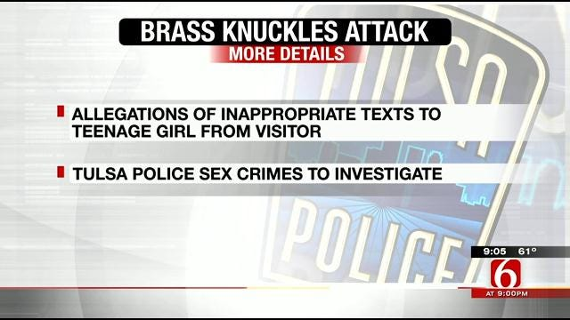 Tulsa Police: Father Greets Visitor With Brass Knuckles