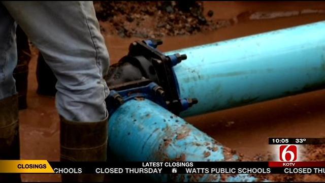 Jenks Forced To Shut Off Water After Main Break