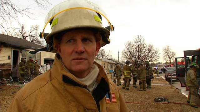 WEB EXTRA: Tulsa Fire District Chief Brian Hickerson Talks About Fire