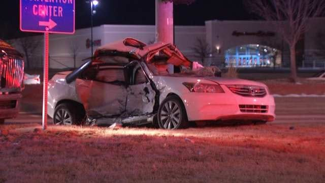WEB EXTRA: Video From Scene Of Crash At Highway 169 And 71st Street