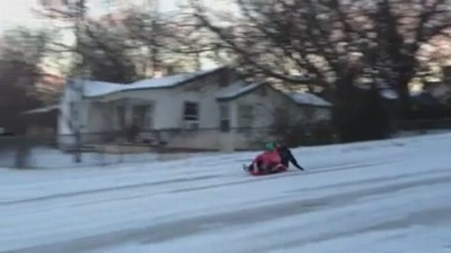 WEB EXTRA: Claremore Sledders On Blue Star Drive #1