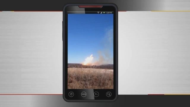 WEB EXTRA: Cellphone Video Of Fire Taken By Theresa McKinzie