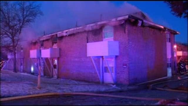WEB EXTRA: Video From Scene Of Fire At Whispering Oaks Apartments