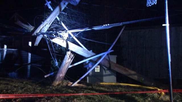 WEB EXTRA: Video From Scene Of Pickup Truck, Tulsa Power Pole Crash