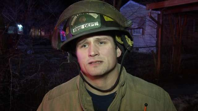 WEB EXTRA: Tulsa Firefighter Brian Fields Talks About House Fire