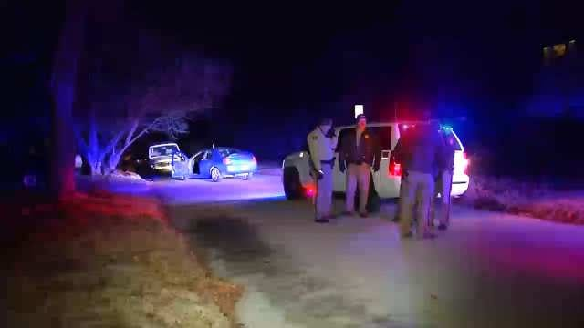 WEB EXTRA: Video From Scene Of End Of Tulsa County Sheriff's Office Car Chase