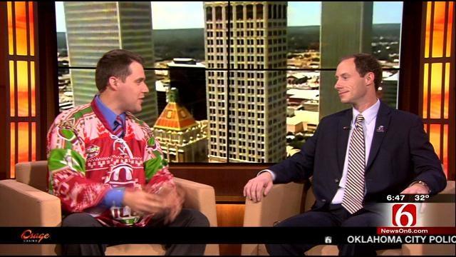 Tulsa Oilers Wear Ugly Christmas Sweaters