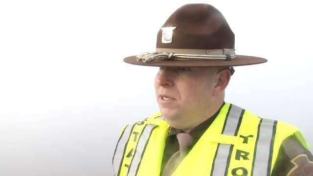 WEB EXTRA: Oklahoma Highway Patrol Trooper Paige Dowell Talks About Crash
