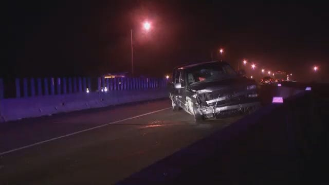 WEB EXTRA: Video From Scene Of Pickup Truck Crash On I-44