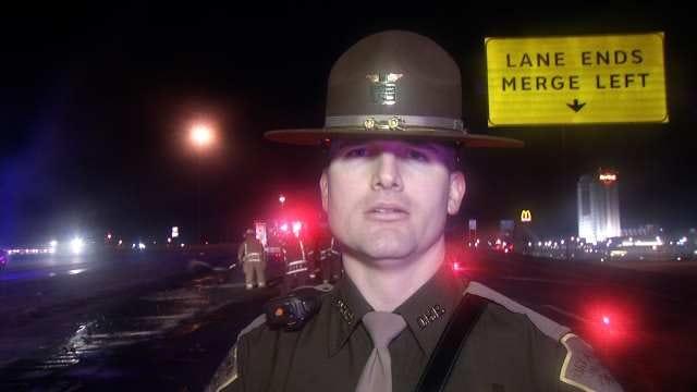 WEB EXTRA: Oklahoma Highway Patrol Trooper Matthew Middleton Talks About Crash