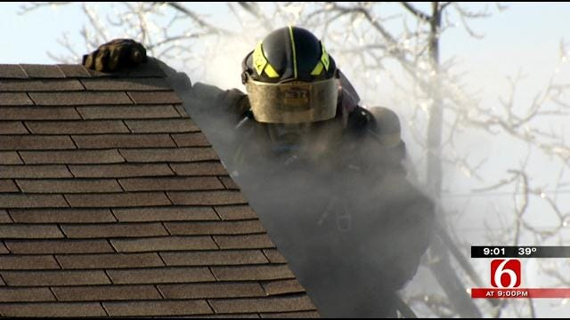 Falling Ice Blamed For Tulsa House Fires