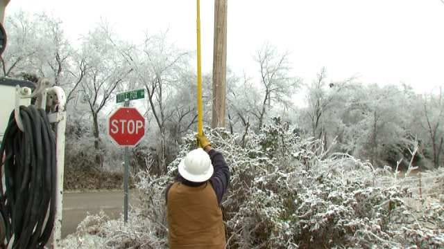 WEB EXTRA: Video Of Utility Crews Working To Restore Power On Sunday