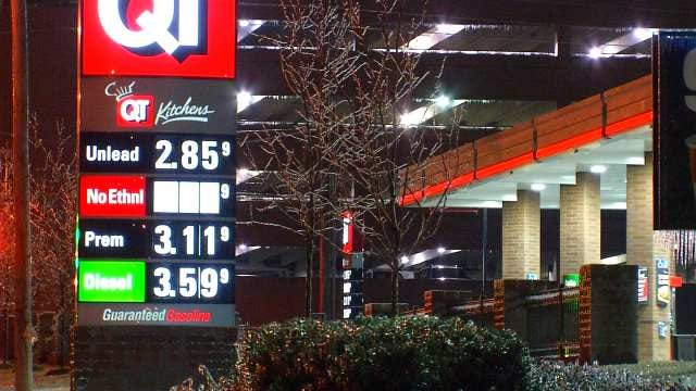 WEB EXTRA: Video Of Gasoline Prices Around The Tulsa Area