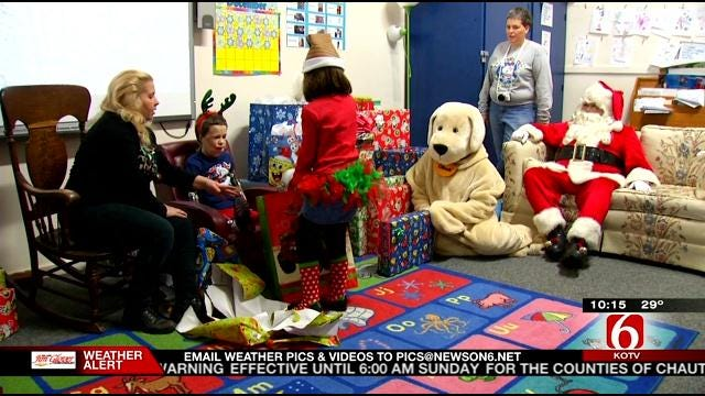Meningitis Survivor Jeremiah Mitchell Gets Visit From Santa