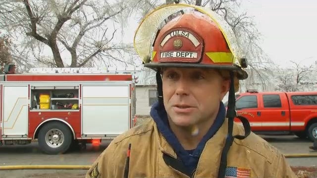 WEB EXTRA: Tulsa House Fire Sparked By Falling Tree Limb