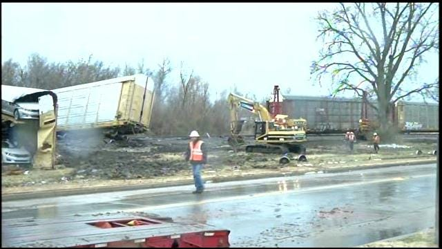 Train Derailment Shuts Down Several North Tulsa Street Crossings