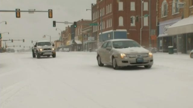 WEB EXTRA: Henryetta Area Snow