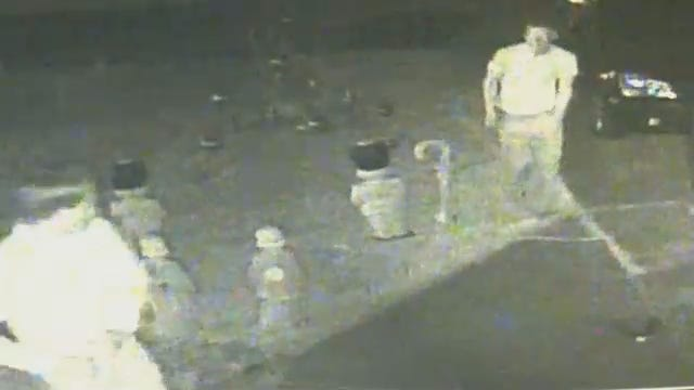WEB EXTRA: Security Camera Catches Christmas Display Vandals