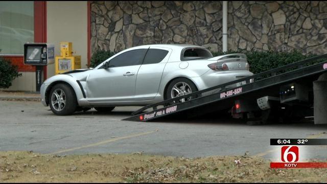Tulsa Police: Driver Shot In Head, Car Hits Corner Cafe