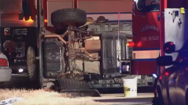 WEB EXTRA: Video From Scene Of Rogers County Fatal Crash