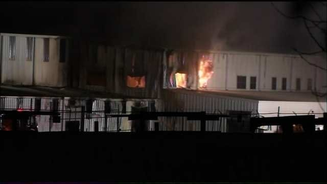 WEB EXTRA: Video From Scene Of Business Fire In Verdigris