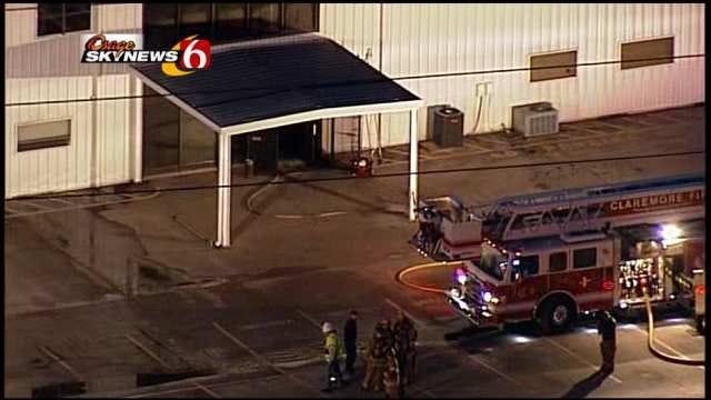 Osage SkyNews 6 Flies Over Verdigris Building Damaged In Fire