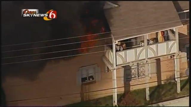 Osage Skynews 6: Fire At Tulsa London Square Apartments Injures 5