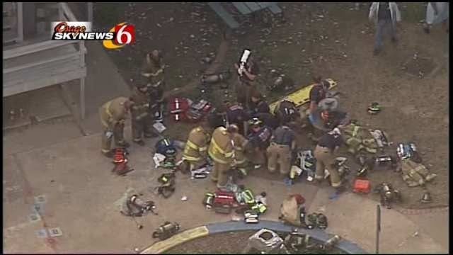 Osage Skynews 6: Firefighters Work To Save Life Of Fire Victim