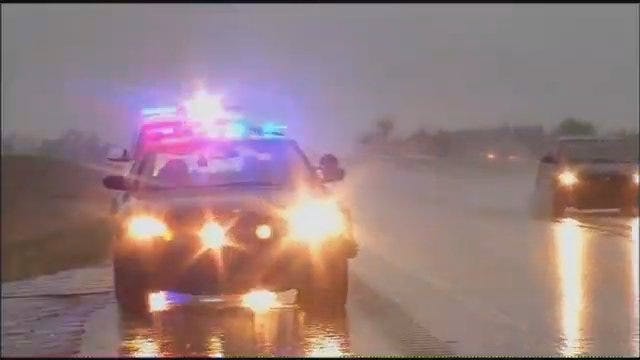 WEB EXTRA: Video Of Crash Scene Involving Claremore Ambulance On Will Rogers Turnpike