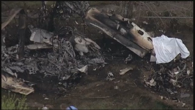 WEB EXTRA: SkyNews6 Flies Above Collinsville Plane Wreckage, Part 2