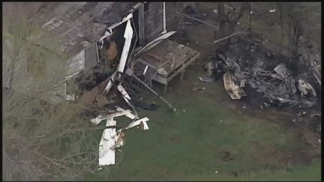 WEB EXTRA: SkyNews6 Flies Above Collinsville Plane Wreckage, Part 1