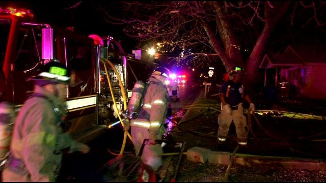 Tulsa Family Homeless After Overnight House Fire
