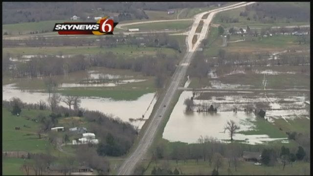 Sky News 6 Flies Over Flooding In Pittsburg County