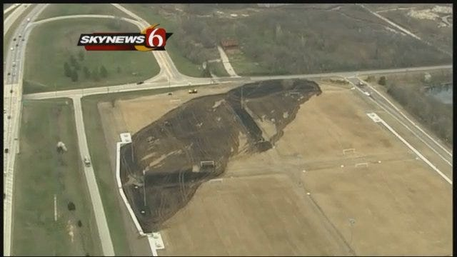 SkyNews6: North Tulsa Soccer Fields Burn