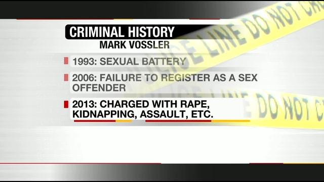 Convicted Sex Offender Arrested In Tulsa For Rape, Kidnapping