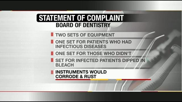 Dentist Offices Not Routinely Inspected, Oklahoma Official Says
