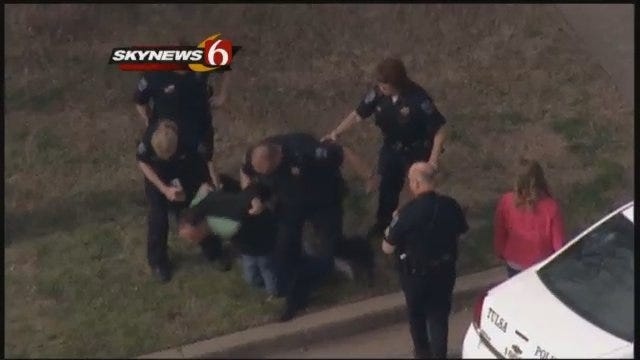 High-Speed Police Chase Ends At Midtown Tulsa Home