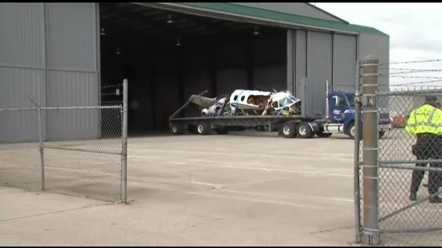 Investigators Examine Plane Wreckage From Crash That Killed 2 Tulsa Men