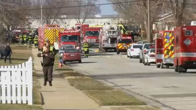 WEB EXTRA: Video From Scene Of Small Jet Crash Near South Bend Airport